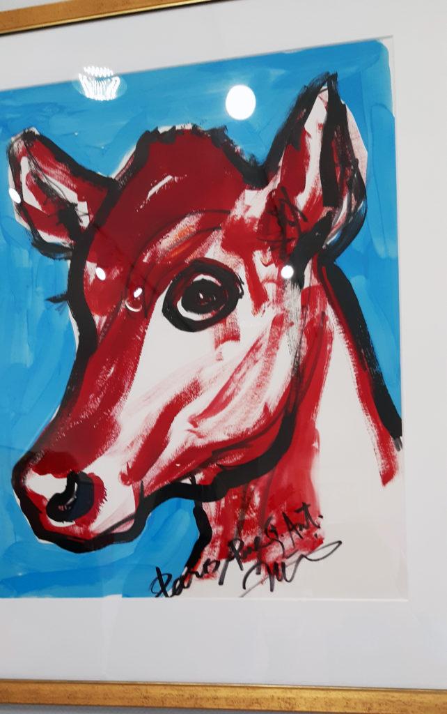 Taideteos lehmästä